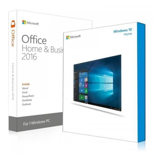 Windows 10 Home + Office 2016 Home & Business Download + clé de licence