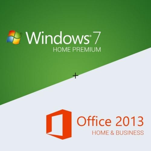 Windows 7 Home Premium + Office 2013 Home & Business Download +clé de licence