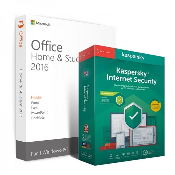 Kaspersky Internet Security + Office 2016 Home & Student